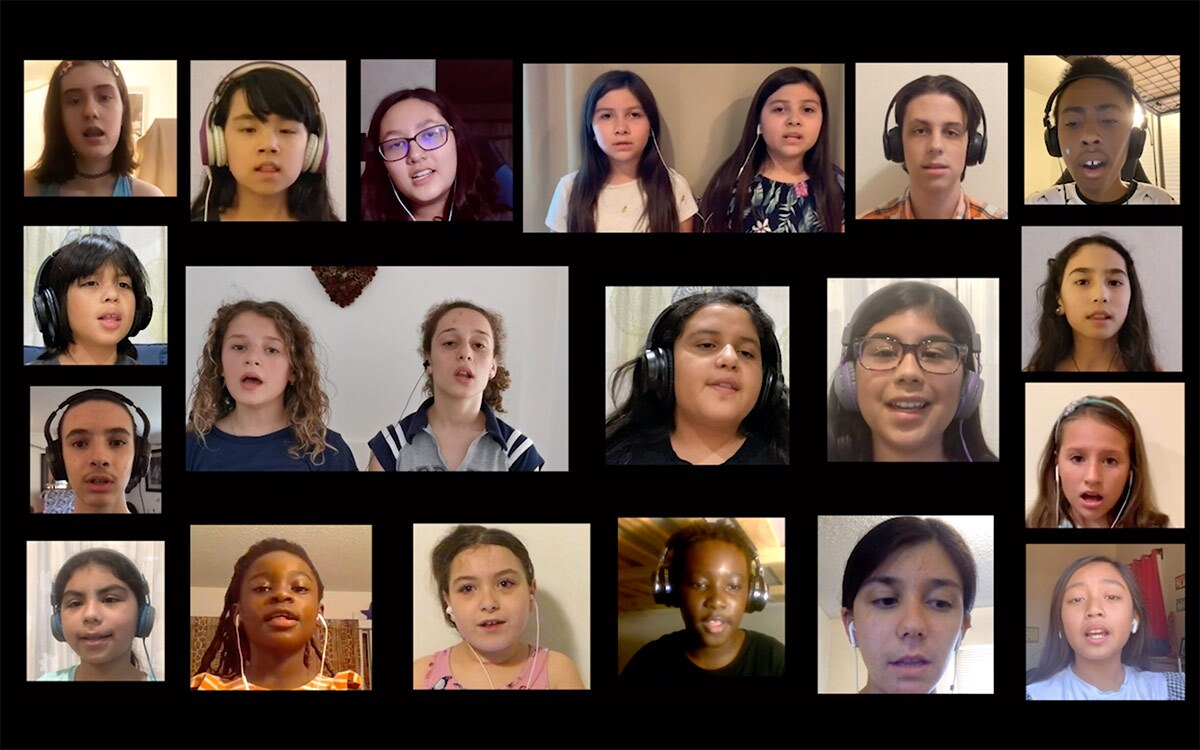 Members of the San Fernando Valley Youth Chorus perform virtually. | Courtesy of San Fernando Valley Youth Chorus
