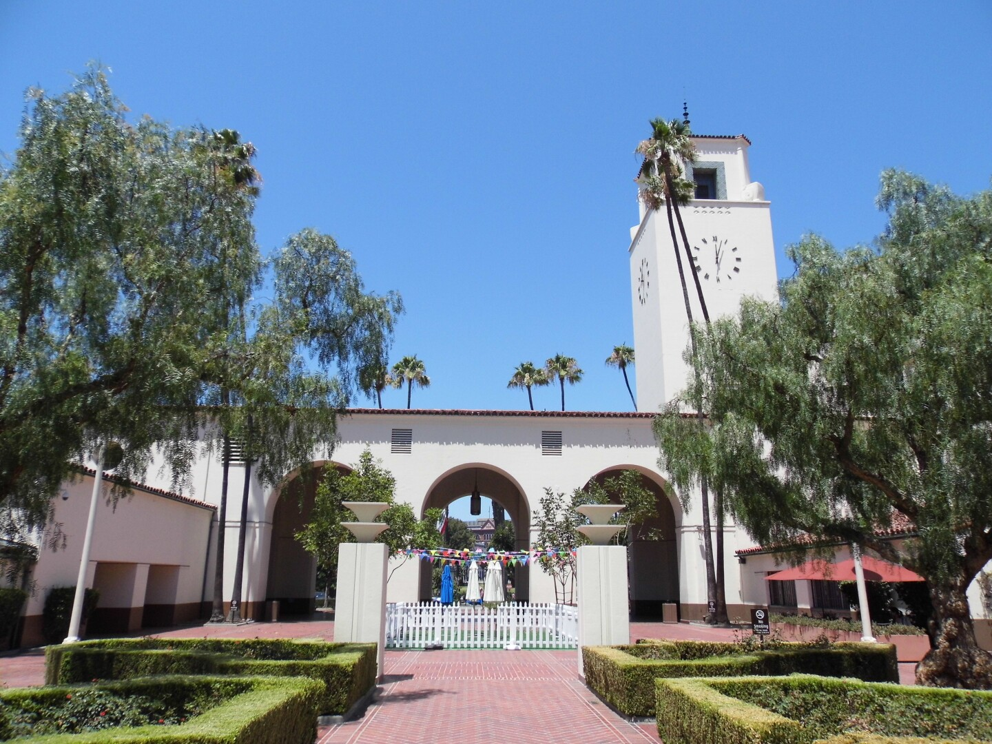 The Los Angeles Union Station square during the day.