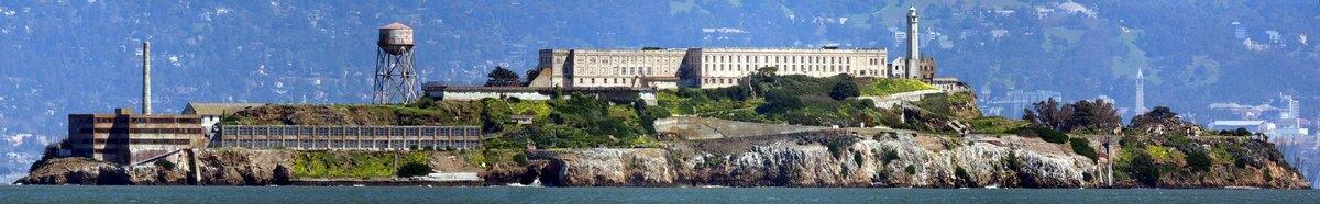 View of Alcatraz Island in 1895 | LAPL/ Wikicommons.