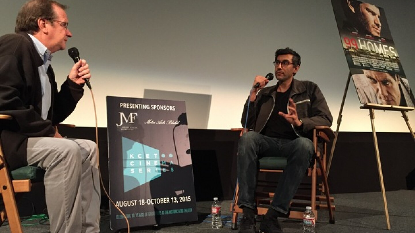 KCET Cinema Series Host Pete Hammond and Director/co-writer Ramin Bahrani