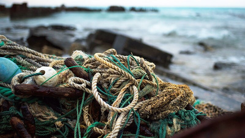 Discarded net in Hawaii. | Photo: NOAA Coral Reef Ecosystem Program