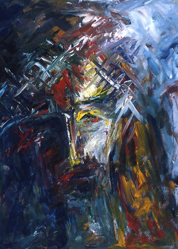 """""""Sacrifice"""" by Vera Arutyunyan, 2005, acrylic on canvas, 24x8,"""" Private collection   Image courtesy of the artist"""