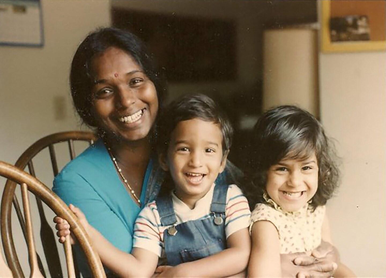 Kengathevy Morgan with children in 1985. | Courtesy of Kengathevy Morgan