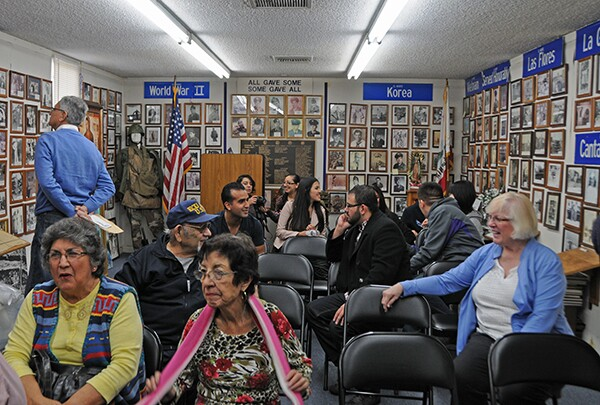 Participants arrive for the event at La Historia Society Museum, photo by Carribean Fragoza
