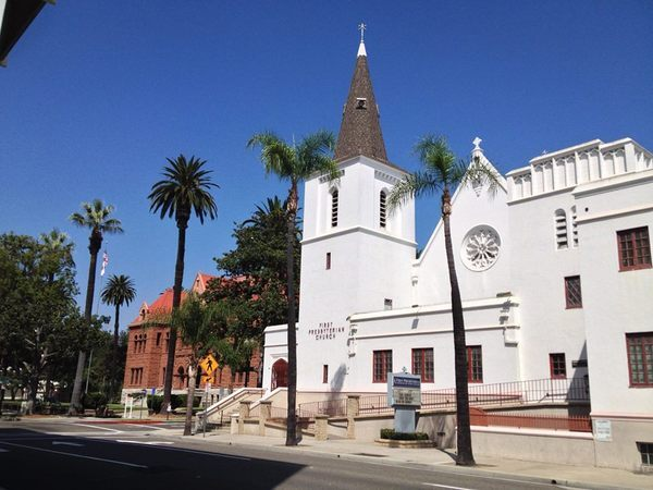 United Presbyterian Church and the Old Orange County Courthouse