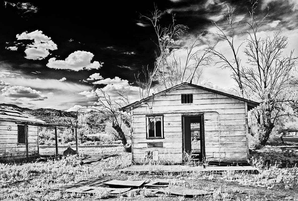 Small House with No Doors - Infrared Exposure - Argus, CA - 2015 | Osceola Refetoff