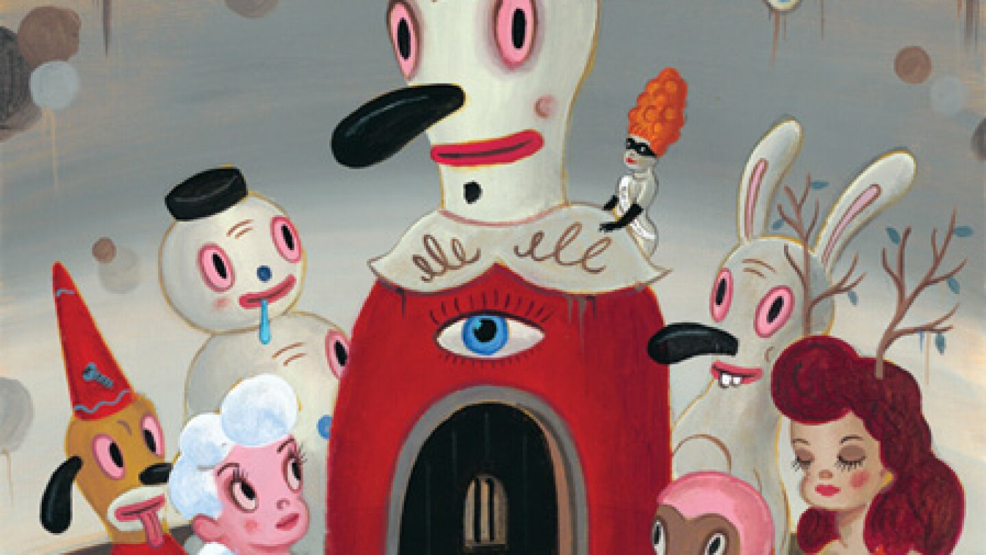 "Gary Baseman, ""The Door Is Always Open,"" 2012, Acrylic on canvas, 24 x 18 inches"