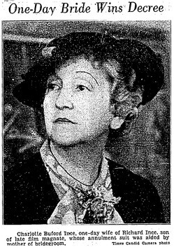 Nell Ince helped her son's wife in the annulment of their marriage | Los Angeles Times, June 6, 1936