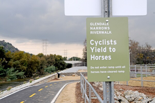 Bicycle/equestrian path will eventually connect to Griffith Park | Photo by Justin Cram