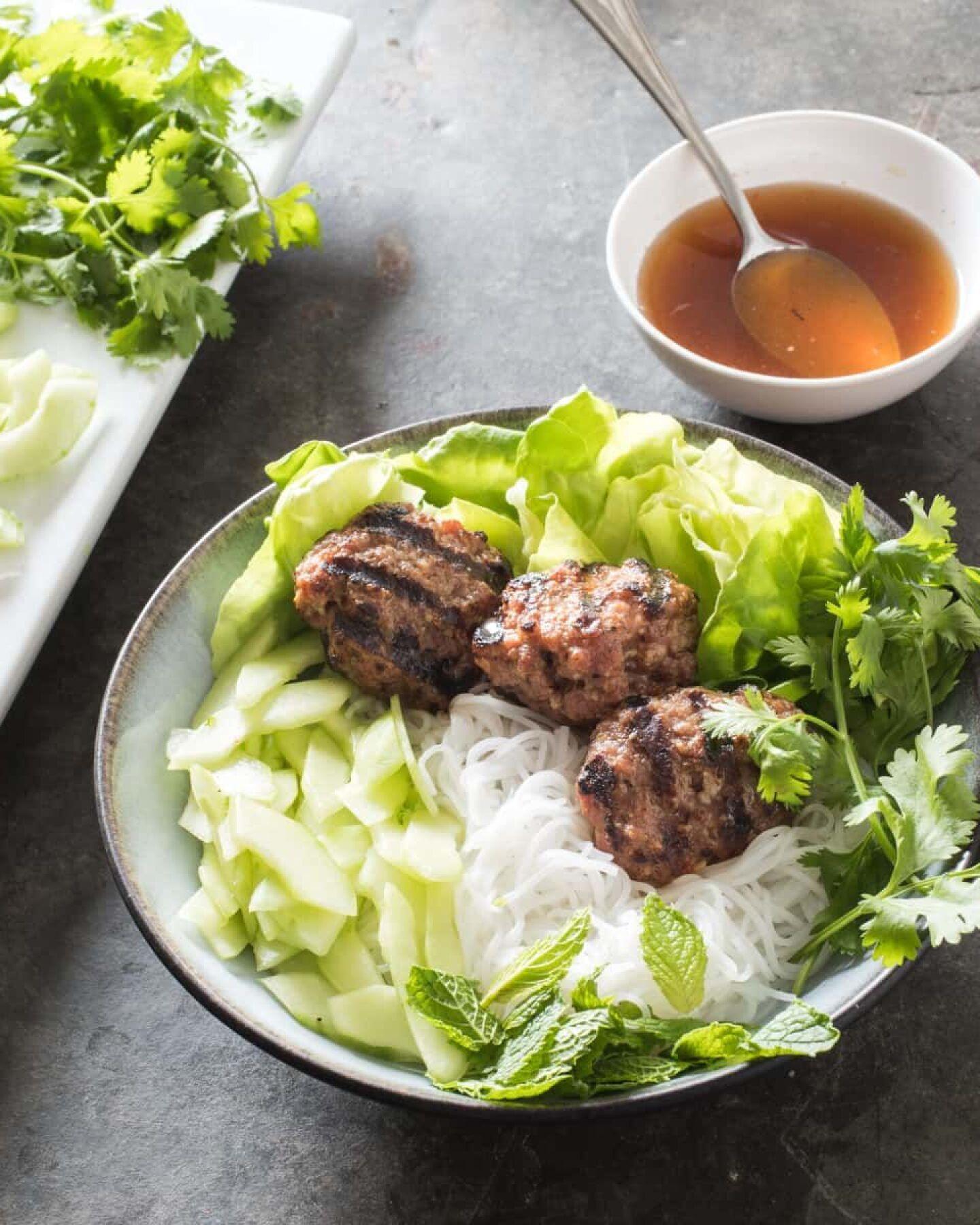vietnamese grilled pork meatballs