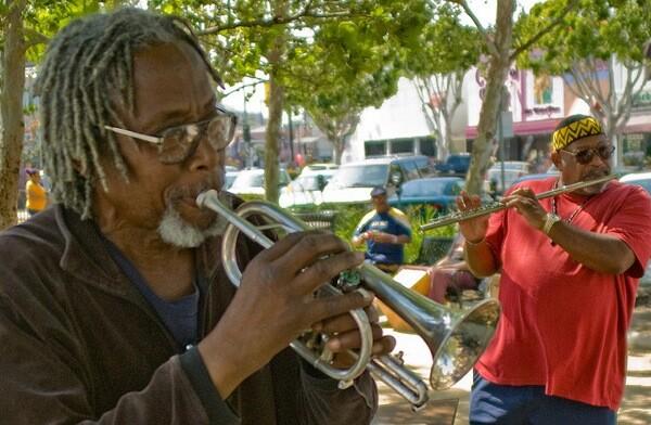 Musicians in Leimert Park.