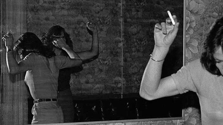 Paz Errázuriz (Chilean, b. 1944), La Palmera (The palm tree), from the series La manzana de Adán (Adam's Apple), 1987. Gelatin silver print.   Courtesy of the artist and Galeria AFA, Santiago. Artwork © the artist. Radical Women Hammer PST LALA
