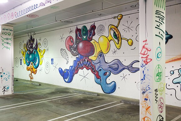 Image of Kenny Scharf provided by Pasadena Museum of California Art