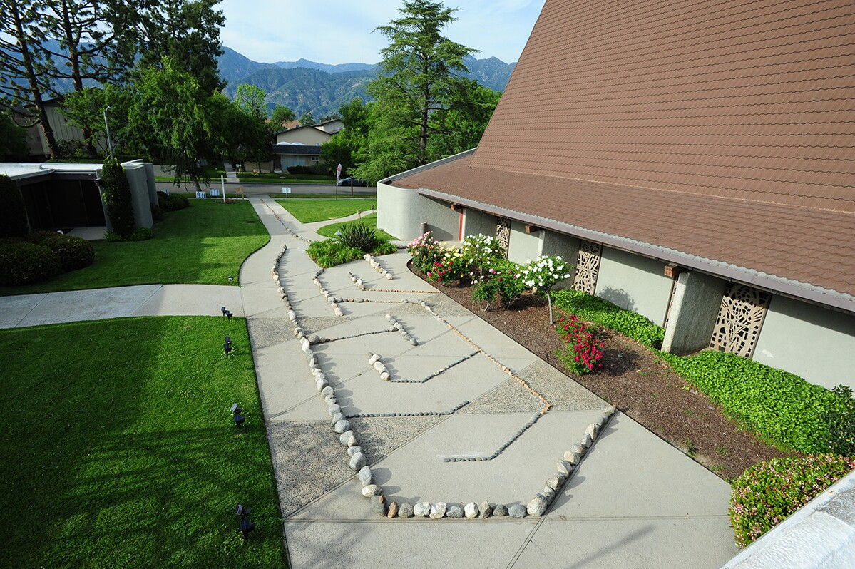 The Irenic Projects Public Labyrinth at Missiongathering Pasadena. | Courtesy of Irenic Projects