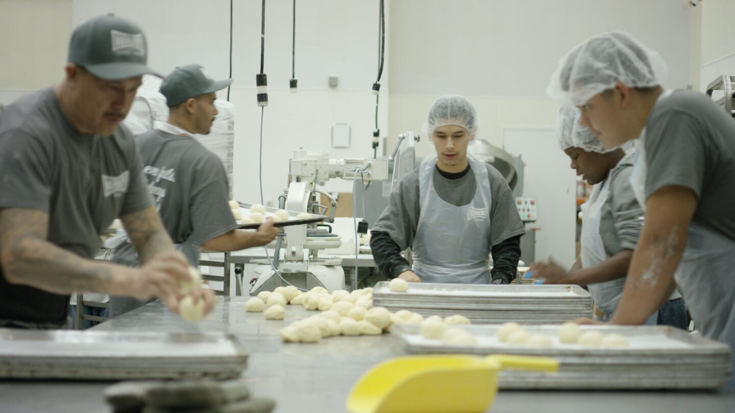 At Homeboy and Homegirl Industries, they focus on transitioning former gang members from lives on the street to lives in kitchens.