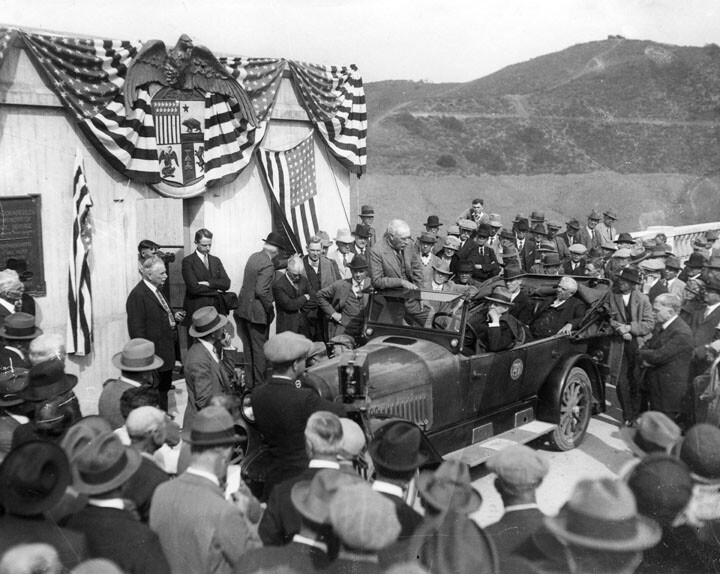 Dedication ceremony for the Hollywood Reservoir, March 17, 1925