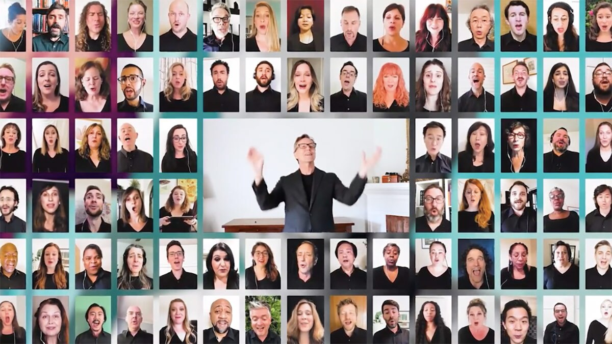 Los Angeles Master Chorale virtual performance | Courtesy of Los Angeles Master Chorale