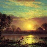 Evening in the Owens Valley, California | Image: Albert Bierstadt