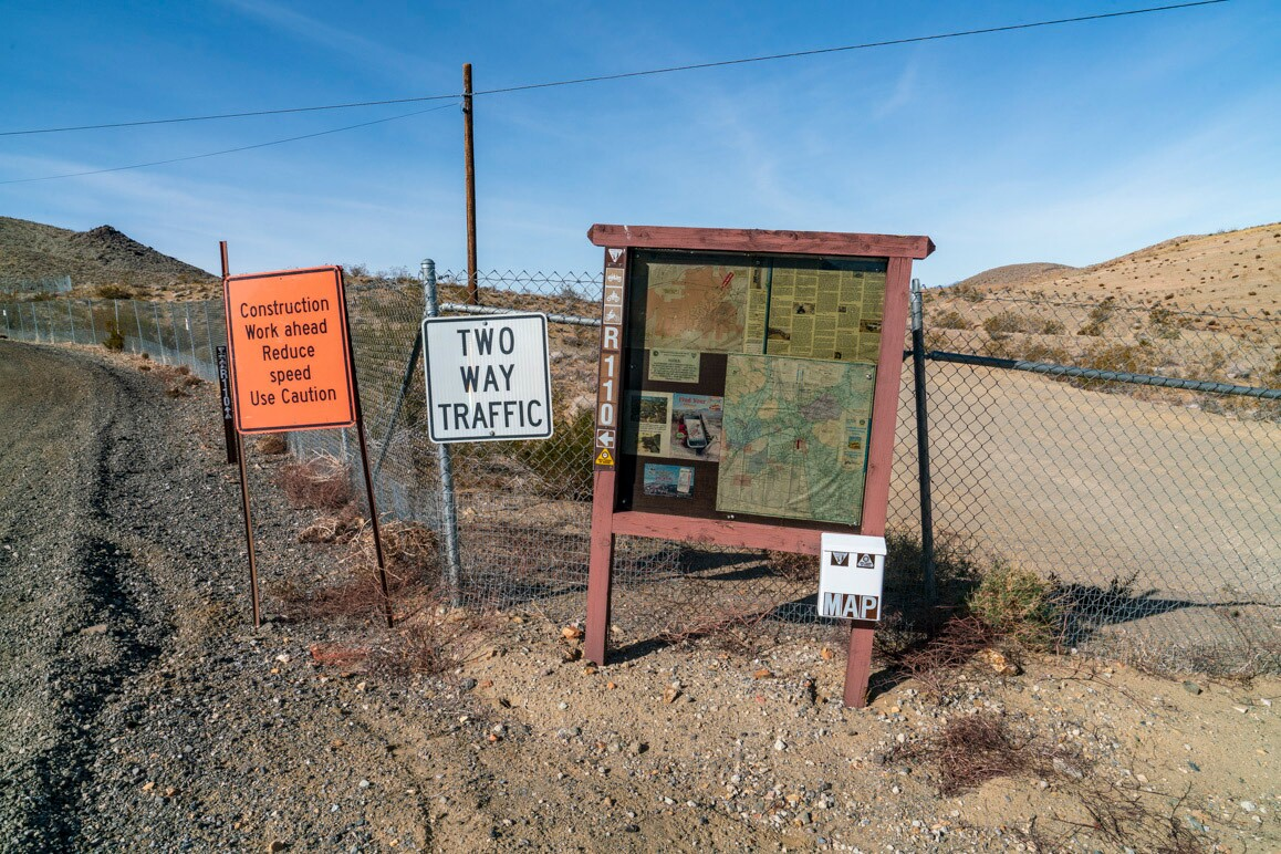 Route 110, a popular OHV trail managed by the BLM parallels Randsburg's old mill. The trail was shut down for a time while BLM oversaw remediated the site for arsenic contamination. | Kim Stringfellow.