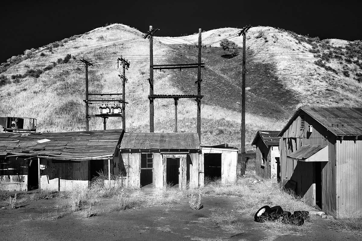 Abandoned Buildings & Tires – Infrared Exposure – Whittaker-Bermite Site – Santa Clarita, CA – 2017 | Osceola Refetoff