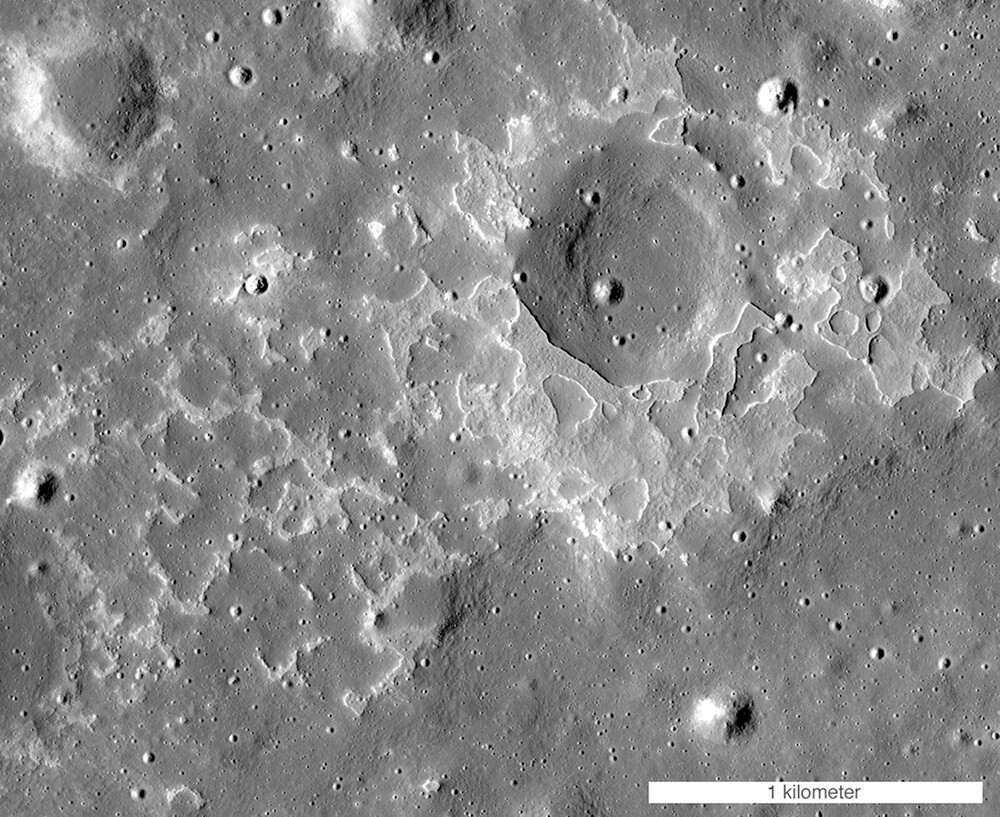 The moon's volcanic history influences its modern topography. | NASA/Goddard Space Flight Center/Arizona State University