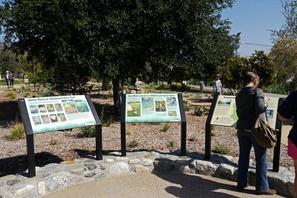 New signage provides information on the L.A. River and native plants