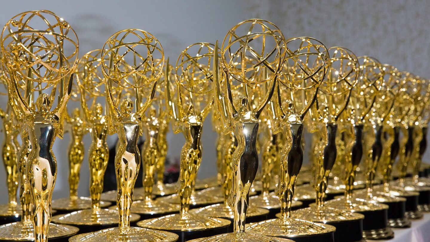 Display of Daytime Emmy Trophies at The National Academy of Television Arts & Sciences held at the Westin Bonaventure Hotel on April 29, 2016 in Los Angeles, California. (Photo by Greg Doherty/Getty Images)