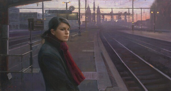 Last Train Home by Tony Pro is 102nd Annual Gold Medal Juried Exhibition. Courtesy of CAC