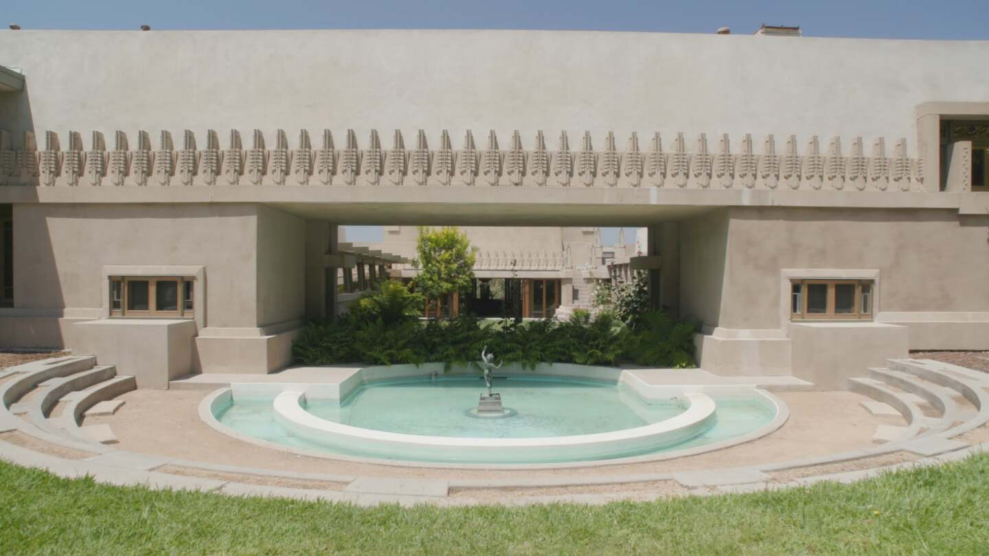 Hollyhock House Frank Lloyd Wright still AB s9