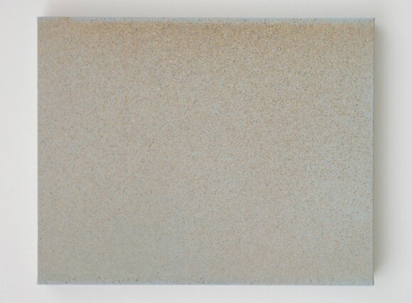 "John Knuth, ""Rampart,"" 2013, Watercolor/Flyspeck on canvas, 24 x 30."