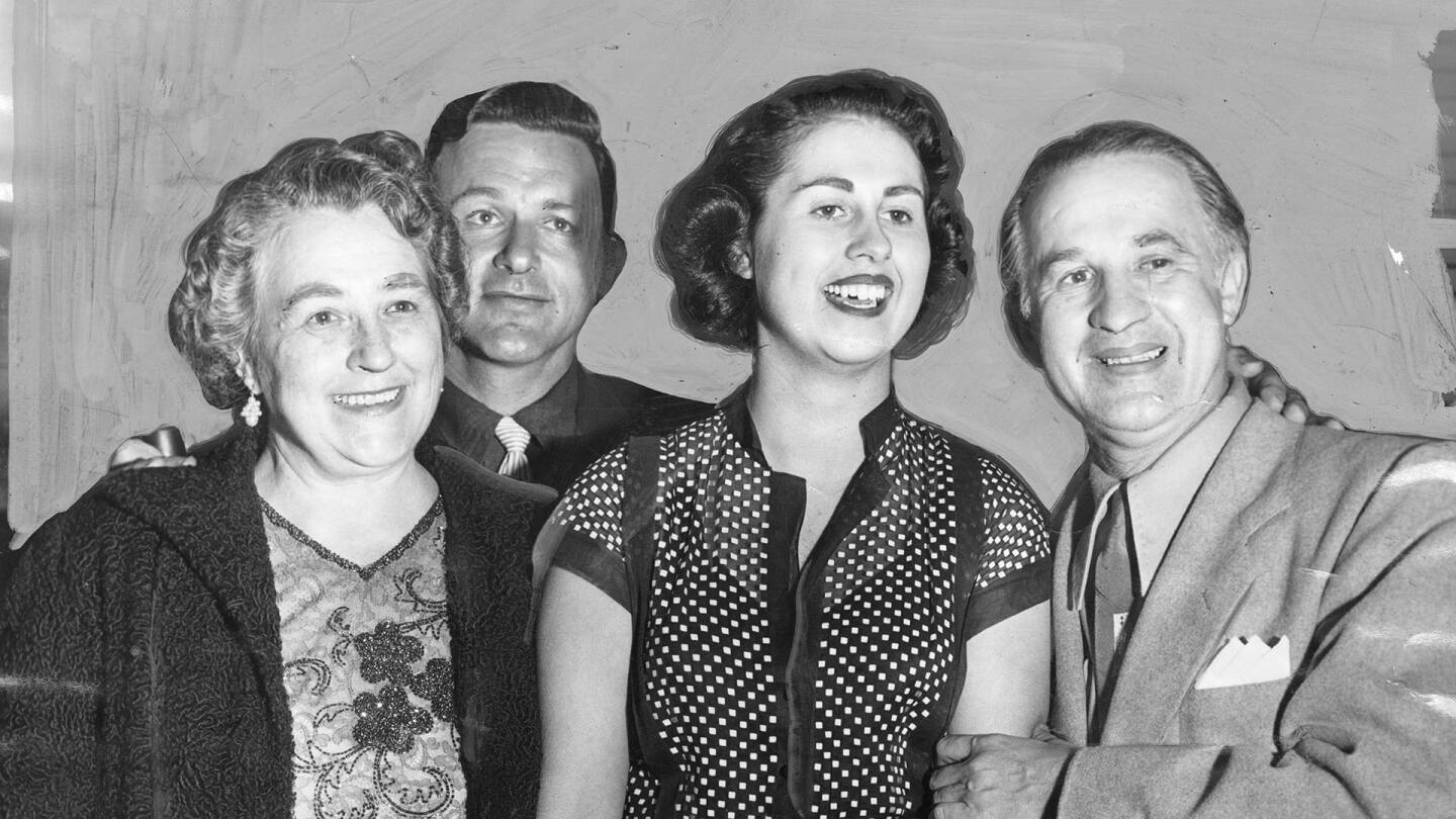 Newly elected councilwoman Rosalind Weiner (now Rosalind Weiner Wyland) with her family. | LA Herald Examiner Photo Collection, Los Angeles Public Library