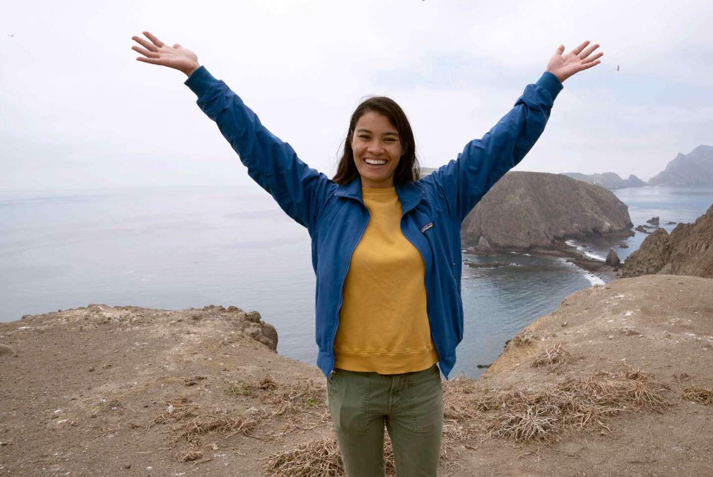 Rosey Alvero at Anacapa Island