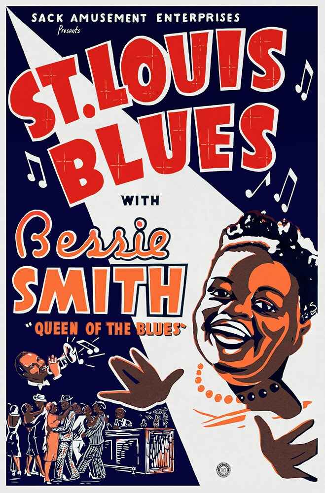 "Film poster for ""St. Louis Blues,"" 1929, 27 x 41"" 