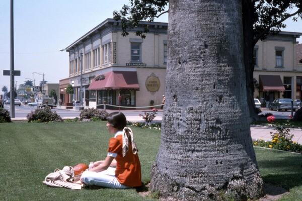 The Orange Plaza Square in 1975. Courtesy of the Orange County Archives.