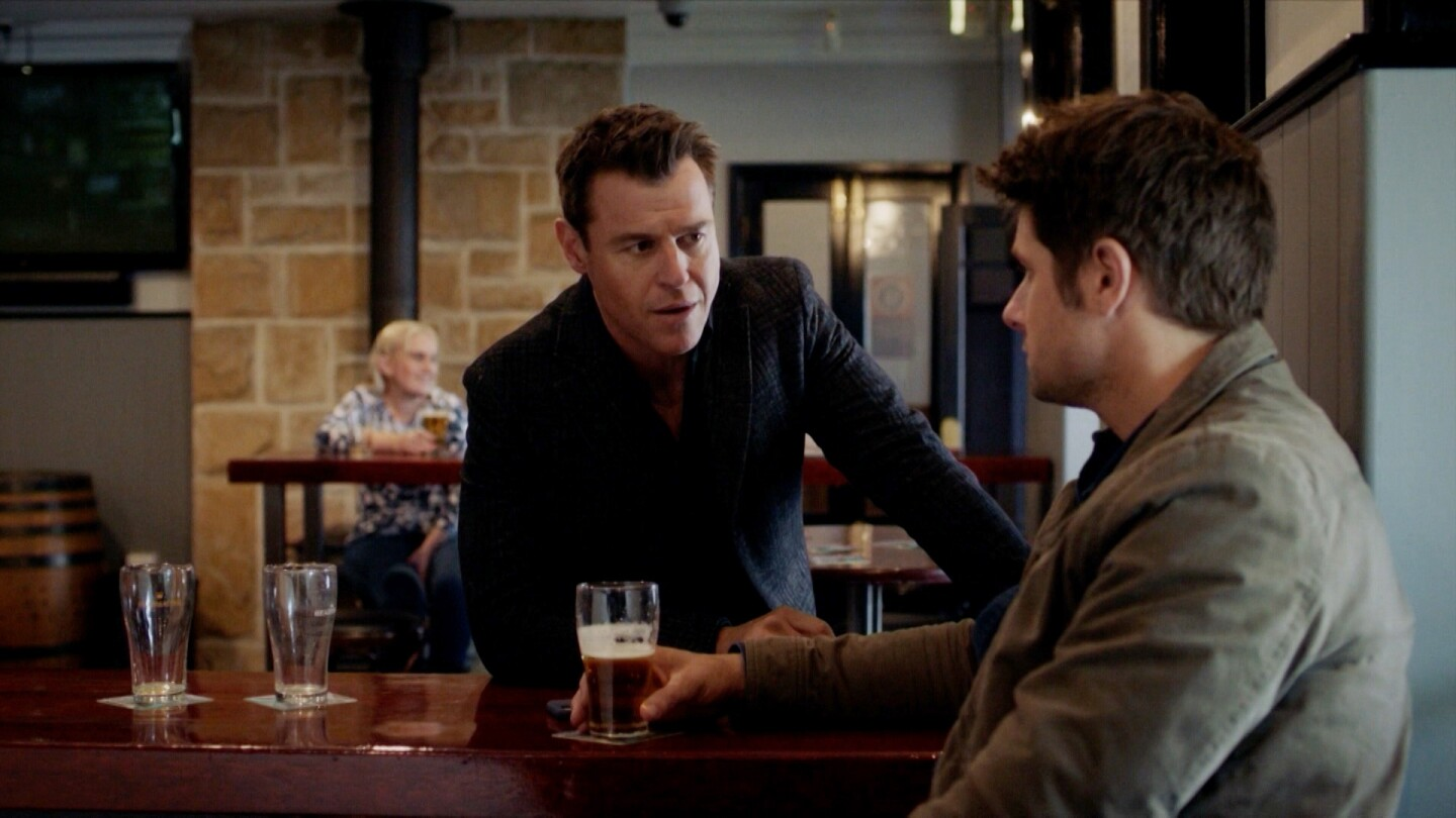 "Two men have a conversation in a pub. | ""The Heart Guy: S3 E7"""