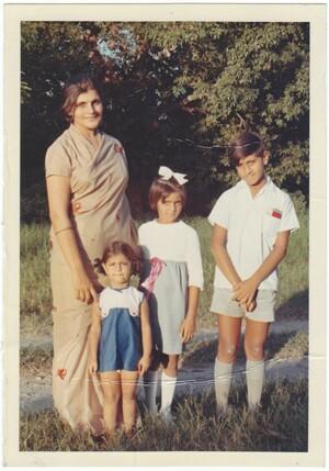 In Nairobi, from left to right, Zarina, Meena, Ameeta and Anil. Photo courtesy Meena Nanji