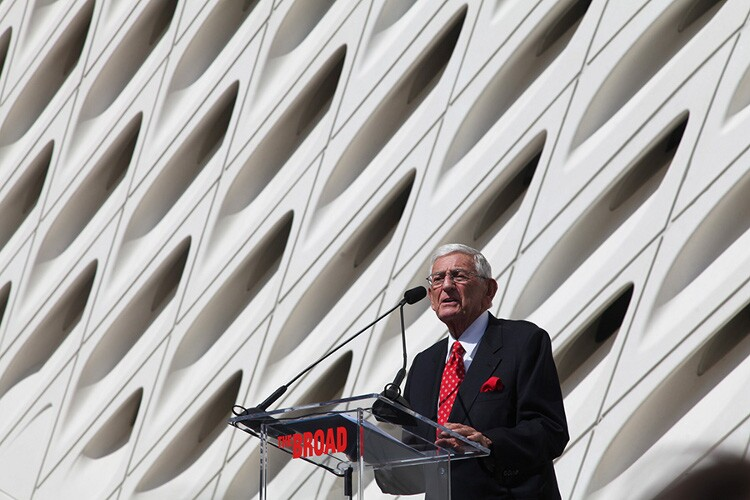 Eli Broad delivers the museum's inaugural address. | Photo: Drew Tewksbury.