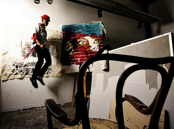 Ryan Hester in studio. | Photo: Courtesy of the artist and Marcus Brown.