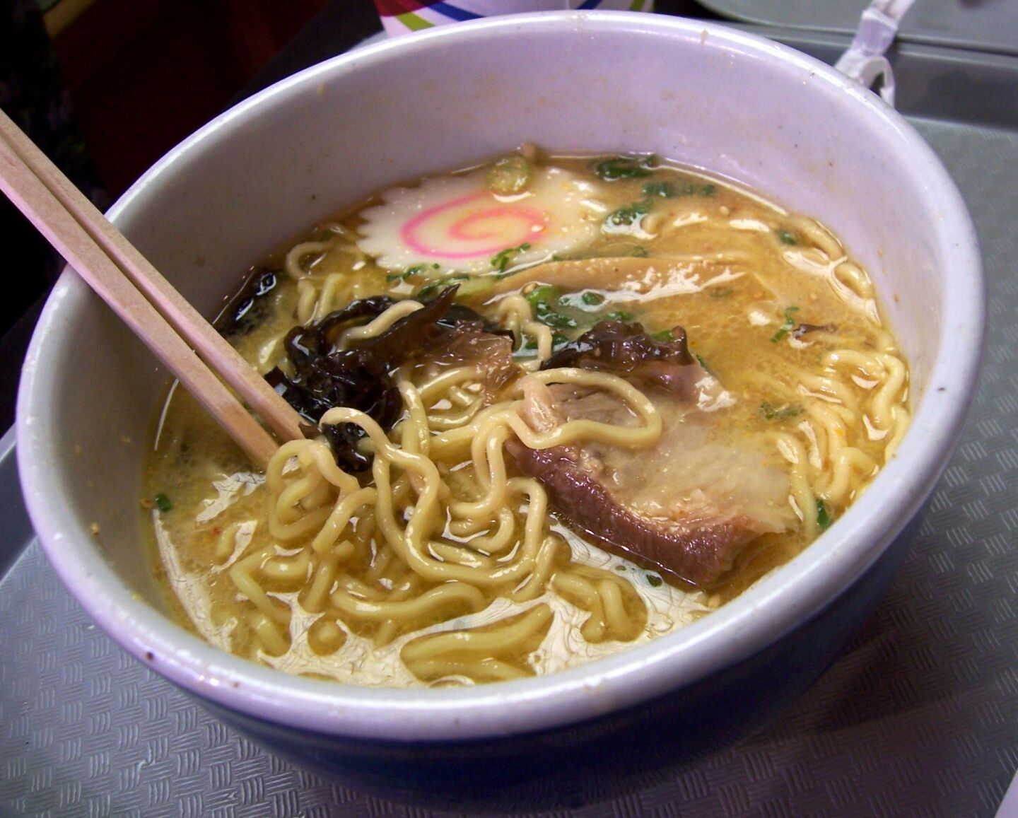 ramen, another soup too exotic for me to make at home