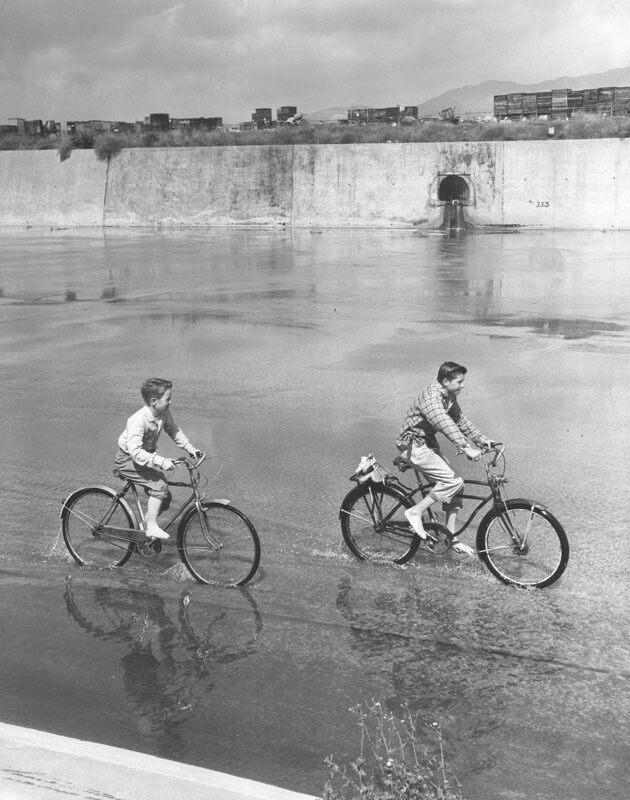 Raw Sewage Pours into LA River, 1955