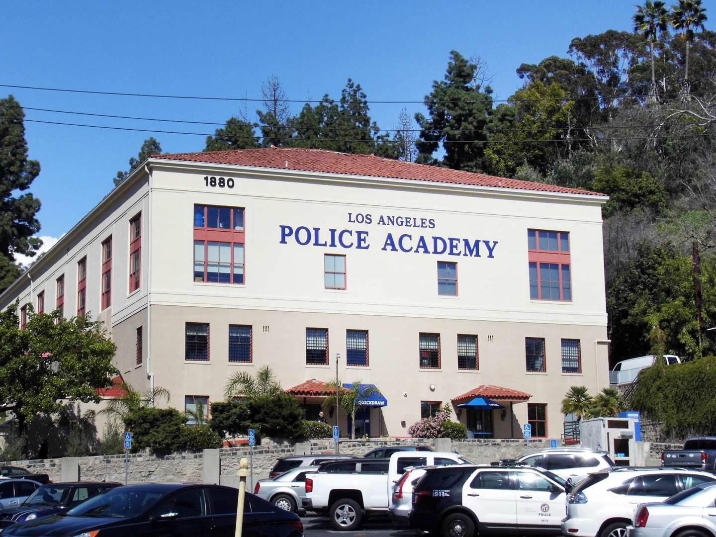 LAPD Police Academy exterior.   Sandi Hemmerlein