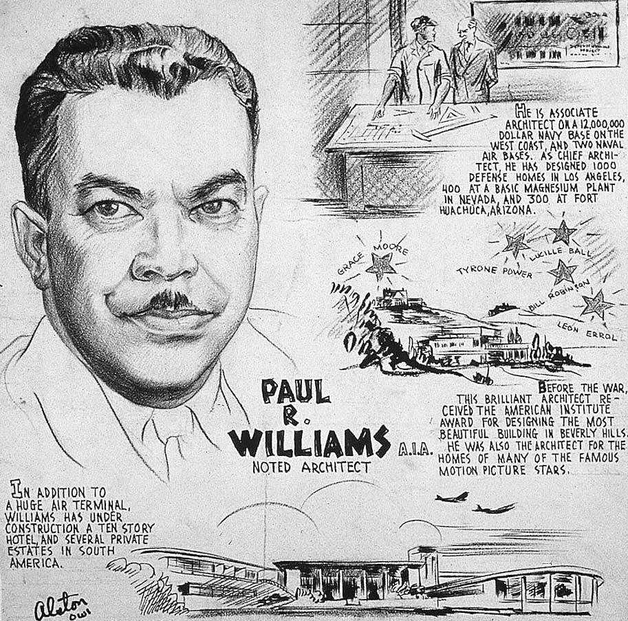 """Charles Alston, """"Paul R. Williams,"""" 1943. 