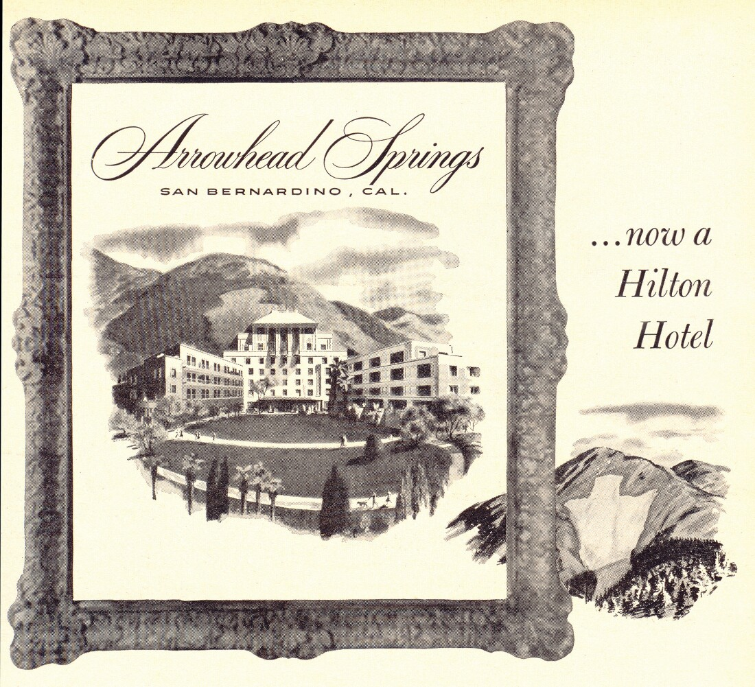The Arrowhead Springs Resort in Newsweek Magazine, June 12th, 1951. | From the collection of Mark Landis.