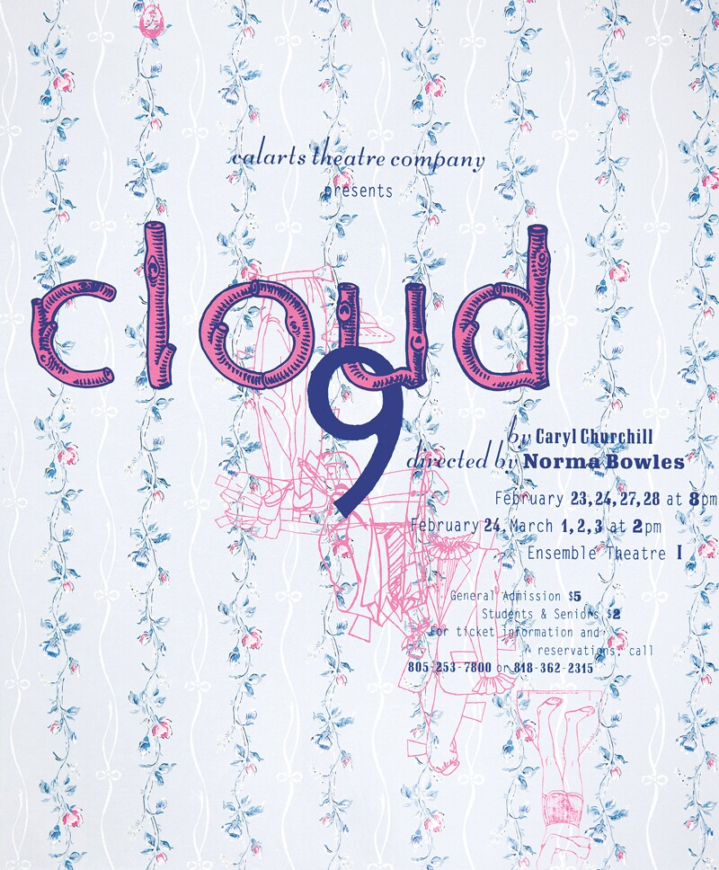 CalArts poster advertising an event called Cloud 9 | Barbara Glauber