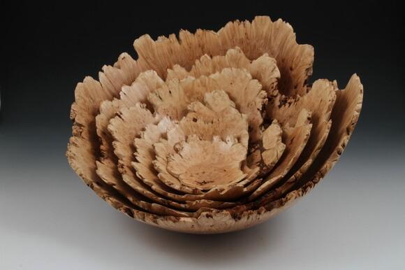Maple burl nested set of bowls. | Photo: Courtesy Barry Lundgren.