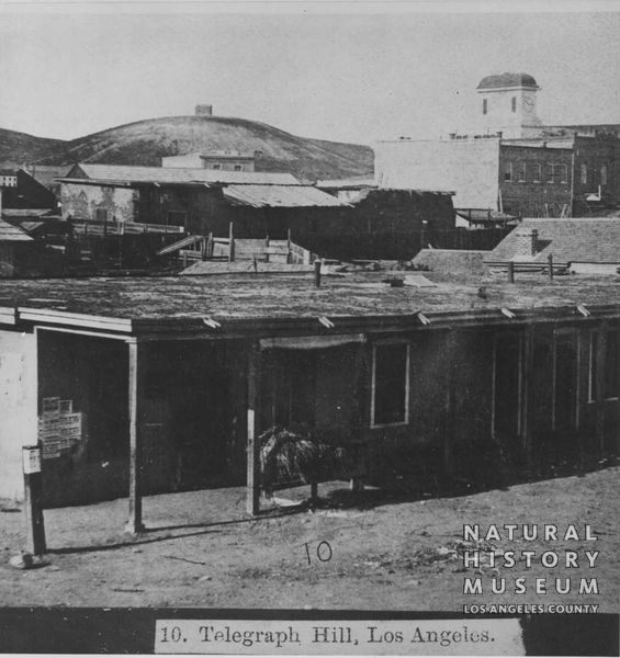 Telegraph Hill (later Poundcake Hill) in Los Angeles, sometime before 1867