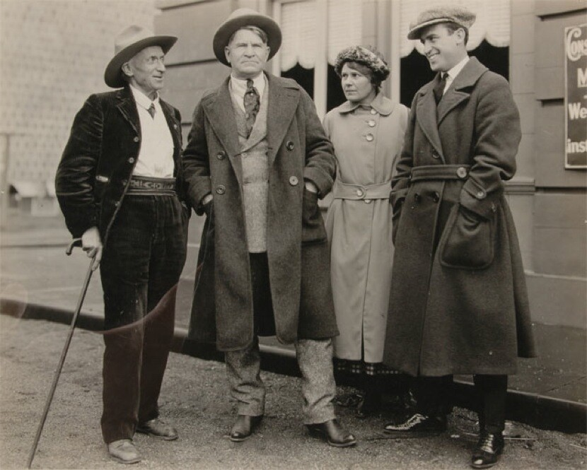 Lummis with Charlie M. Russell, Nancy Russell, and Harold Lloyd