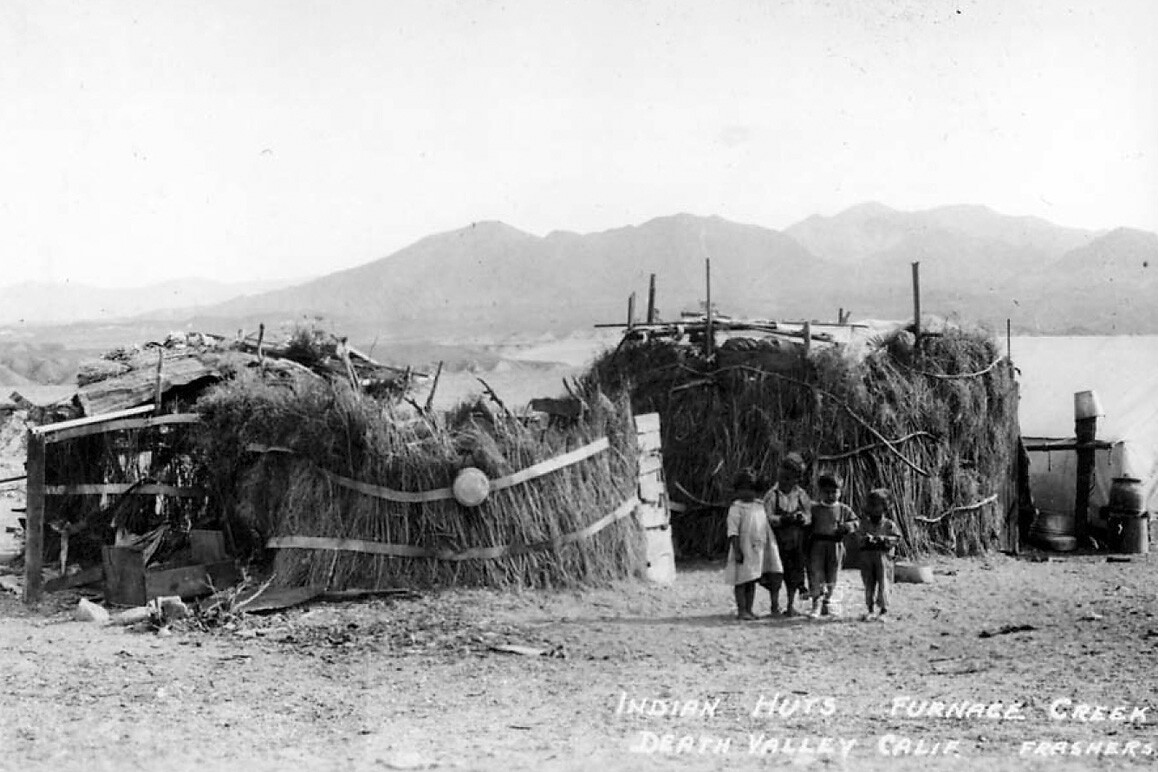 Timbisha Shoshone dwellings at Furnace Creek Ranch, 1930s.