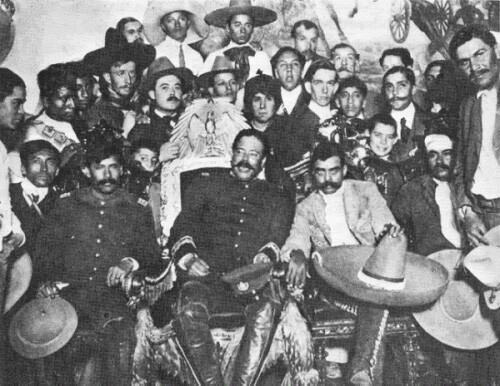 Pancho Villa and Emilio Zapata.