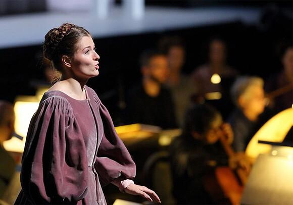"Kateryna Kasper as Belinda in ""Dido and Aeneas"" Photo: Craig Mathew/LA Opera"